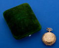 Timepieces:Pocket (post 1900), Longines 14k Gold 0 Size Hunter's Case Pocket Watch With Original Box. ...