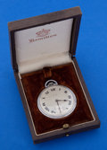 Timepieces:Pocket (post 1900), Howard 17 Jewel 12 Size Base Metal Case With A Hamilton Signed Box....