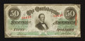 Confederate Notes:1863 Issues, T57 $50 1863 PF-15 Cr. 413.. ...