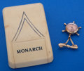 Timepieces:Other , Monarch Unusual Gold Filled Pendant Watch With Box. ...