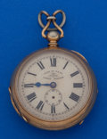 Timepieces:Pocket (post 1900), Loehr Rare Early Patent Self-Wind Pocket Watch For Restoration. ...