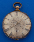 Timepieces:Pocket (pre 1900) , Cooper Unmarked Gold Fancy Dial Key Wind Pocket Watch. ...