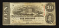 Confederate Notes:1863 Issues, T59 $10 1863 PF-45 Cr. UNL.. ...