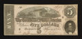 Confederate Notes:1864 Issues, T69 $5 1864 PF-7 Cr. UNL.. ...