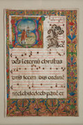 Books:Early Printing, [Illuminated Manuscript]. Large Leaf from Missal or Antiphoner....