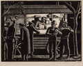 Antiques:Posters & Prints, Ethelbert White (1891-1972). The Coffee Stall....