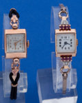 Timepieces:Wristwatch, Two - Ladies 14k Pink Gold Wristwatches Runners. ... (Total: 2 Items)
