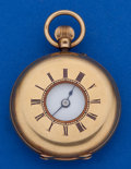 Timepieces:Pocket (post 1900), Cahoon Brothers Dublin 39 mm 18k Gold Demi-Hunter Pocket Watch. ...