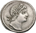 Ancients:Roman Imperial, Ancients: Constantine I. 307-337 AD. Siliqua, 3.23g (6h).Thessalonica. Obv: No legend. Head right looking upwards, wearingrosette an...