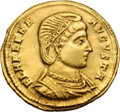 Ancients:Roman Imperial, Ancients: Helena, Mother of Constantine I. . Solidus, 4.36g (1h). Sirmium, 324-5 AD. Obv: FL HELENA - AVGVSTA Diademed, draped bust ri...