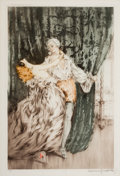Pin-up and Glamour Art, LOUIS JUSTIN LAURENT ICART (French-American, 1888-1950).Masquerade, 1928. Lithograph, ed. 314/500. 20 x 13.5 in..Signe...