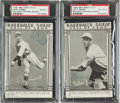 """Baseball Cards:Autographs, 1948 Lefty Grove and Carl Hubbell Signed """"Baseball's Greats HOF"""" Cards Lot of 2...."""