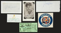 Baseball Collectibles:Others, Baseball Hall of Famers Signed Memorabilia Lot of 6....
