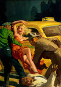 Paintings, HUGH JOSEPH WARD (American, 1909-1945). Mrs. Big, Super Detective pulp cover, April 1942. Oil on canvas. 30 x 21.5 in.. ...