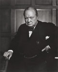 Photographs:20th Century, YOUSUF KARSH (Canadian, 1908-2002). Winston Churchill, 1941.Gelatin silver, printed later. 23-3/4 x 19 inches (60.3 x 4...
