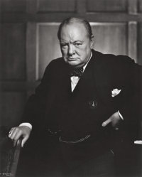 YOUSUF KARSH (Canadian, 1908-2002) Winston Churchill, 1941 Gelatin silver, printed later 23-3/4 x