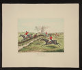 "Books:Prints & Leaves, Henry Thomas Alken, artist. Hand-Colored Fox Hunting Print: ""TheFull Cry. Now Catch Them If You Can"". Engraved by R. G. Ree..."