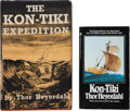 Books:Travels & Voyages, Thor Heyerdahl. The Kon-Tiki Expedition. By Raft Across the South Seas. Translated by F. H. Lyon. London: Ge... (Total: 4 Items)