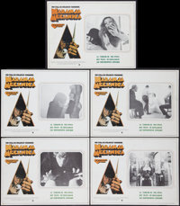 "A Clockwork Orange (Warner Brothers, 1971). Mexican Lobby Cards (5) (12.5"" X 16.5""). Science Fiction. ... (Tot..."