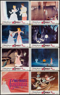 "Movie Posters:Animation, Cinderella (Buena Vista, R-1957). Lobby Card Set of 8 (11"" X 14"").Animation.. ... (Total: 8 Items)"