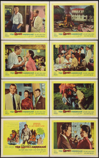 "The Quiet American Lot (United Artists, 1958). Lobby Card Set of 8 (11"" X 14"") and Window Cards (2) (14' X 22&..."