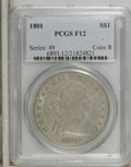 Early Dollars: , 1801 $1 F12 PCGS. PCGS Population (23/315). NGC Census: (15/336).Mintage: 54,454. Numismedia Wsl. Price: $1,250. (#6893)...