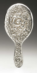 Silver Holloware, American:Mirrors and Vanity-related , An American Silver Hand Mirror and Brush. Whiting Manufacturing,Providence, RI, Early Twentieth Century. Script monog... (Total: 2Items)