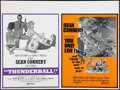 """Movie Posters:James Bond, Thunderball/You Only Live Twice Combo (United Artists, 1970).British Quad (30"""" X 40""""). James Bond.. ..."""