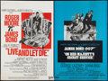 "Movie Posters:James Bond, Live and Let Die/On Her Majesty's Secret Service Combo (UnitedArtists, R-1970s). British Quad (30"" X 40""). James Bond.. ..."