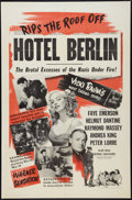 "Movie Posters:War, Hotel Berlin (Warner Brothers, 1945). One Sheet (27"" X 41""). War....."