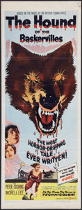 """Movie Posters:Mystery, The Hound of the Baskervilles (United Artists, 1959). Insert (14"""" X 36""""). Mystery.. ..."""