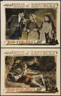 "Movie Posters:Adventure, Hills of Kentucky (Warner Brothers, 1927). Lobby Cards (2) (11"" X14""). Adventure.. ... (Total: 2 Items)"