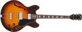 Musical Instruments:Electric Guitars, 1967 Gibson ES-330 TD Sunburst Electric Guitar, # 101532....