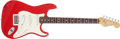 Musical Instruments:Electric Guitars, 1984-87 Fender Stratocaster Red Electric Guitar, #E482605. ...