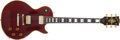 Musical Instruments:Electric Guitars, 1974 Gibson Les Paul Custom Wine Red 20th Anniversary ElectricGuitar, #393626....