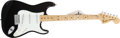 Musical Instruments:Electric Guitars, 1974 Fender Stratocaster Black Maple Neck Electric Guitar,#561686....