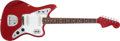 Musical Instruments:Electric Guitars, 1966 Fender Jaguar Candy Apple Red Electric Guitar, # 137698....