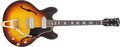 Musical Instruments:Electric Guitars, 1966 Gibson ES-330 Sunburst Thin-Hollow Body Electric Guitar, #66931....