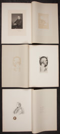Books:Prints & Leaves, Six Engraved Studies of Charles Dickens and His Family. FromCharles Dickens by Pen and Pencil, London: Frank T. Sabin,... (Total: 6 Items)