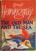 Books:Literature 1900-up, Ernest Hemingway. The Old Man and the Sea. London: JonathanCape, [1955]. . First British edition, thirteenth ...