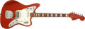 Musical Instruments:Electric Guitars, 1968 Fender Jaguar Candy Apple Red Electric Guitar, #199990....