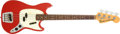 Musical Instruments:Bass Guitars, 1967 Fender Mustang Bass Dakota Red Electric Bass Guitar, #212319....