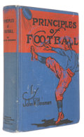 Books:Americana & American History, John W. Heisman. Principles of Football. St. Louis: SportsPublishing Bureau, [1922]. First hardcover edition. Octav...