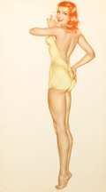 Pin-up and Glamour Art, ALBERTO VARGAS (American, 1896-1982). Esquire Pin-Up,January 1946. Watercolor on board. 32 x 17.25 in.. Not signed. ...