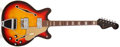 Musical Instruments:Electric Guitars, 1967 Fender Coronado II Sunburst Semi-Hollow Body Electric Guitar,#180970. ...