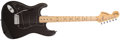 Musical Instruments:Electric Guitars, 1978 Fender Stratocaster Left-Handed Black Electric Guitar,#S867735....