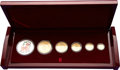 China:People's Republic of China, China: People's Republic. Five-piece Lunar Premium gold Panda gold Set 2003,... (Total: 6 coins)