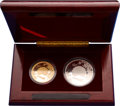 China:People's Republic of China, China: People's Republic. Peacock 10 &100 Yuan silver and gold Proof Set 1993,... (Total: 2 coins)