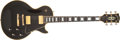 Musical Instruments:Electric Guitars, 1971 Gibson Les Paul Custom Black Beauty Electric Guitar, #62073....