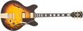 Musical Instruments:Electric Guitars, 1978 Gibson ES-355 TD SB SV Tobacco Sunburst Semi-Hollow BodyElectric Guitar # 72548061...